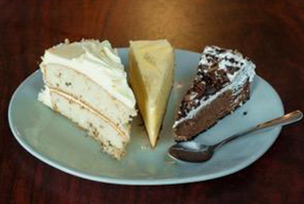 Cheese Cake, Chocolate Cake Deserts